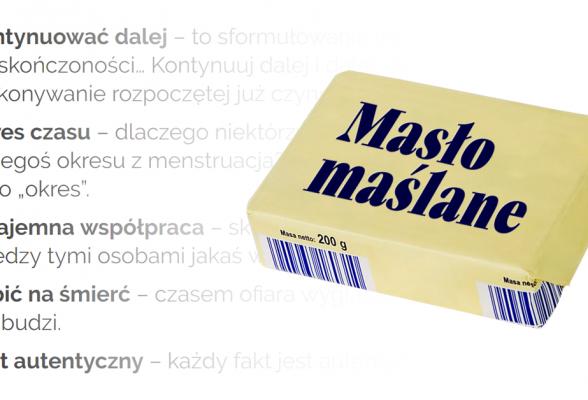 Pleonazm, czyli masło maślane. Cofasz się zawsze do tyłu, a spadasz tylko w dół - Polszczyzna.pl