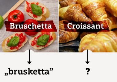 Bruschetta wymowa, Curaçao, Gnocchi, Croissant