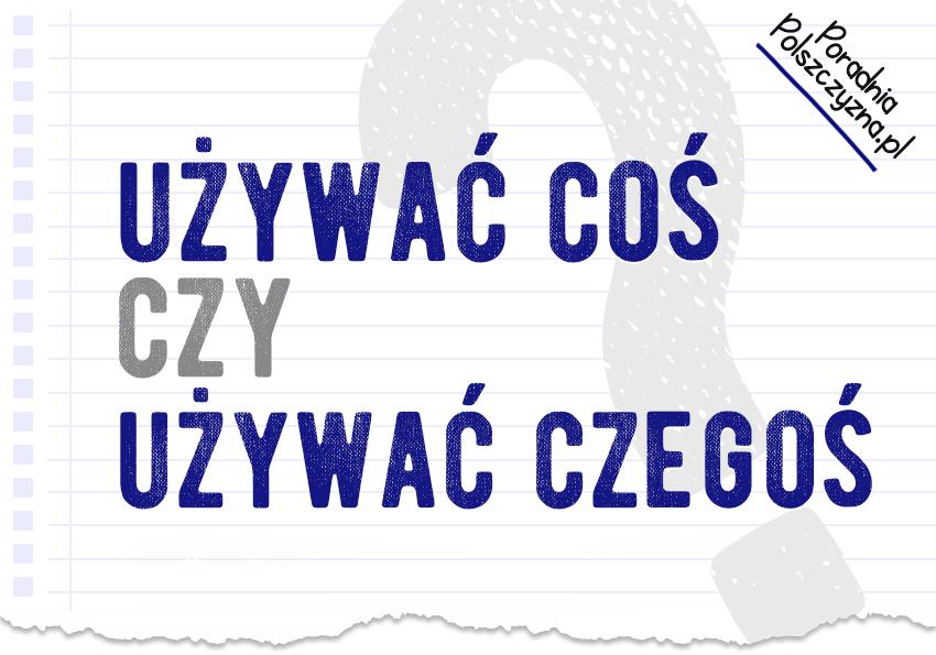 Używasz coś czy czegoś? Kilka słów o wymaganiach czasownika używać - Polszczyzna.pl