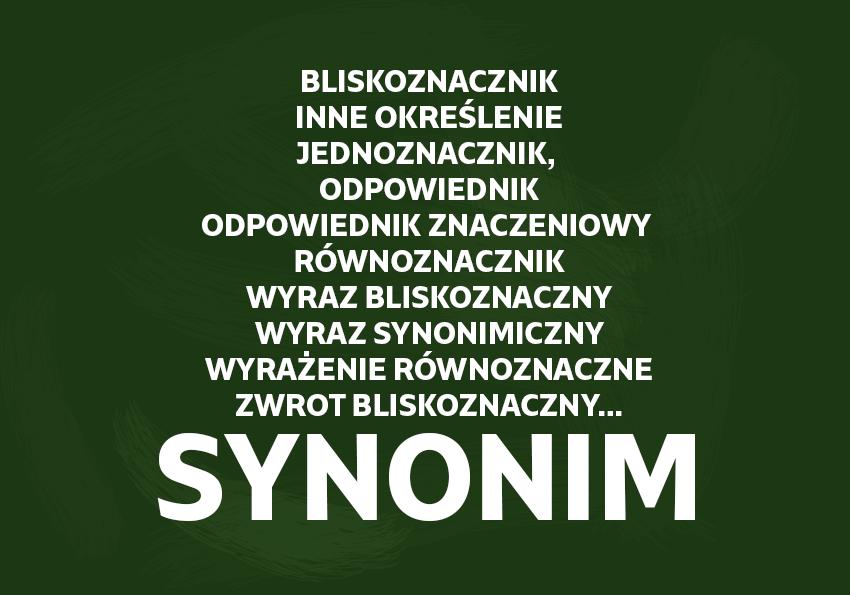 Synonimy i wyrazy bliskoznaczne definicja znaczenie przykłady Polszczyzna.pl