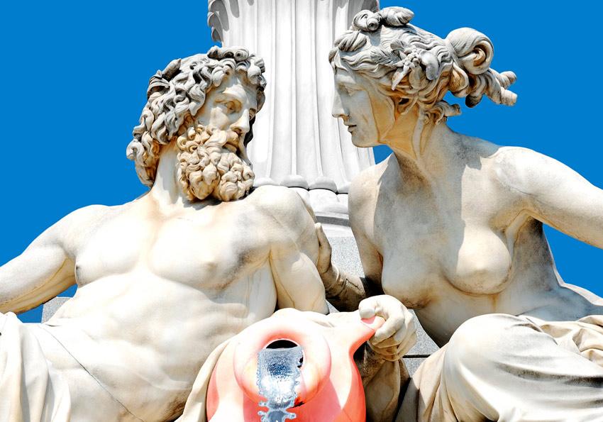 Mitologia grecka ciekawostka wyjaśnienie definicja streszczenie bogowie Zeus Atena Ares Apollo Polszczyzna.pl