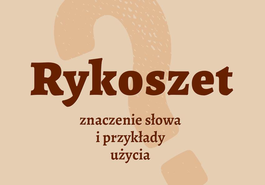 Rykoszet co to znaczy słownik definicja znaczenie słowa przykłady użycia synonimy Polszczyzna.pl
