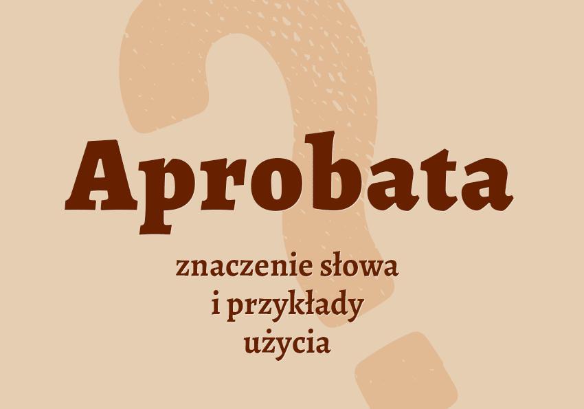 aprobata co to znaczy co to jest słownik definicja znaczenie słowa przykłady użycia synonim etymologia Polszczyzna.pl