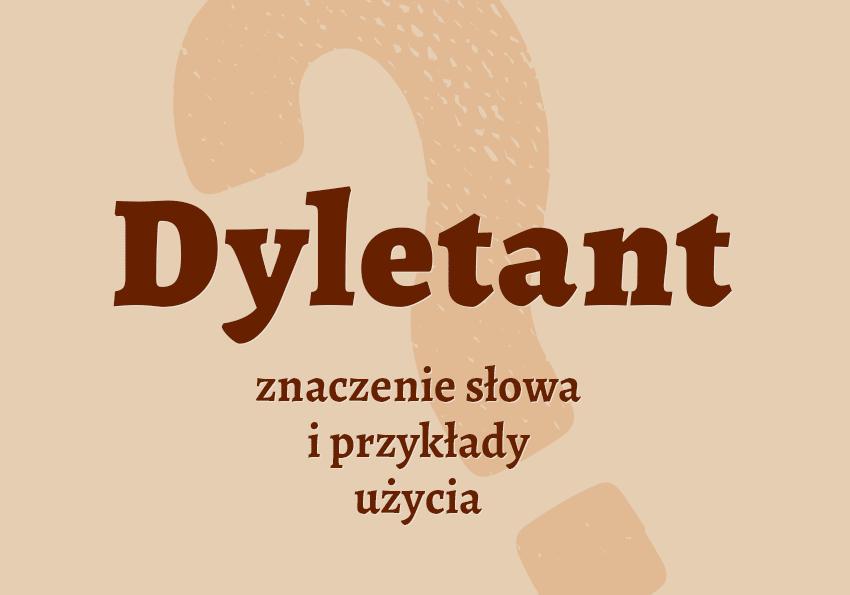 Dyletant kto to jest kim jest słownik definicja znaczenie słowa przykłady użycia synonim inaczej Polszczyzna.pl