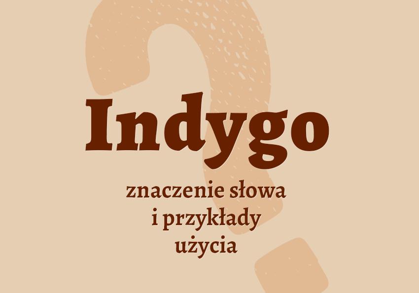 Indygo co to znaczy kolor słownik definicja znaczenie słowa przykłady użycia synonim Polszczyzna.pl