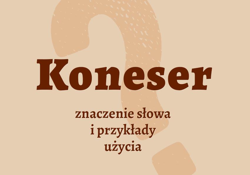 Koneser kto to jest kim jest słownik definicja znaczenie słowa przykłady użycia synonim inaczej Polszczyzna.pl