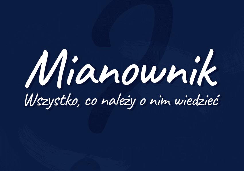 mianownik co to jest na jakie pytania odpowiada przykłady definicja przypadek deklinacja odmiana Polszczyzna.pl