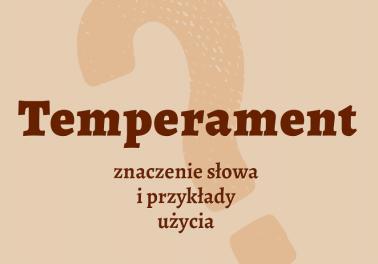 Temperament co to znaczy co to jest słownik definicja znaczenie słowa przykłady użycia synonim etymologia Polszczyzna.pl