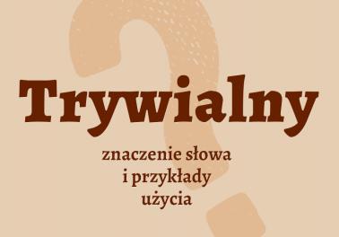 trywialny czyli jaki co to znaczy definicja znaczenie słowa przykłady słownik synonim inaczej Polszczyzna.pl