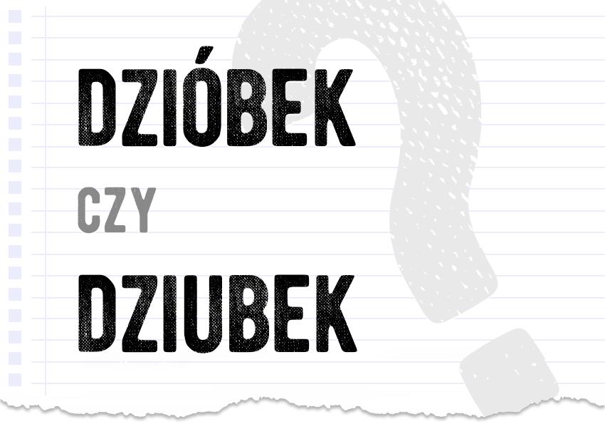 dzióbek czy dziubek pytanie rozwiązanie odpowiedź wyjaśnienie przykłady przykład ortografia Polszczyzna.pl