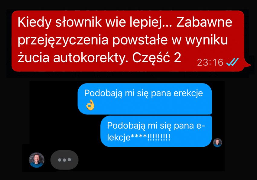 śmieszne zabawne przejęzyczenia powstałe z autokorekty śmiech autokorekta SMS esemes Polszczyzna.pl