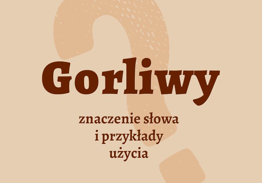 gorliwy kto to jest co to znaczy gorliwy synonim słownik znaczenie definicja przykłady Polszczyzna.pl