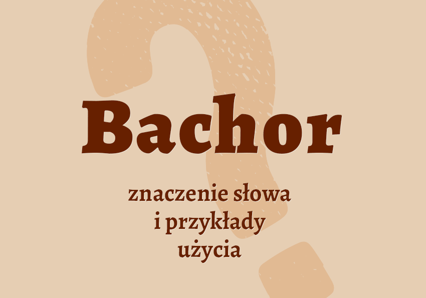 Bachor kto to jest kim jest definicja słowa znaczenie bachora bachor synonim słownik Polszczyzna.pl