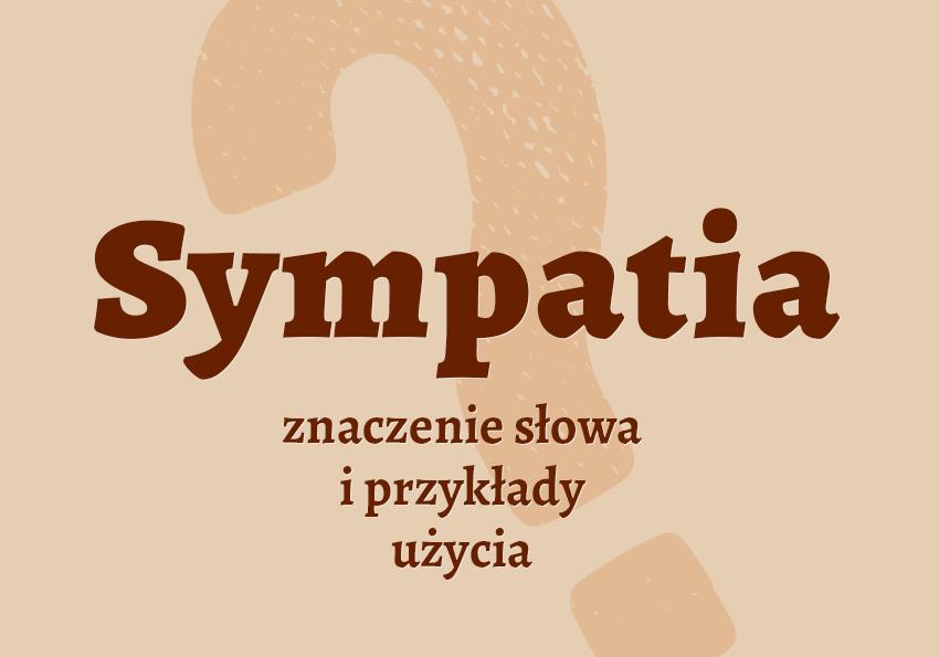 sympatia co to jest czym jest definicja sympatia.PL znaczenie pojecie wyjasnienie sympatia synonim sympatii jak nazwac inaczej kto kogo słownik Polszczyzna.pl