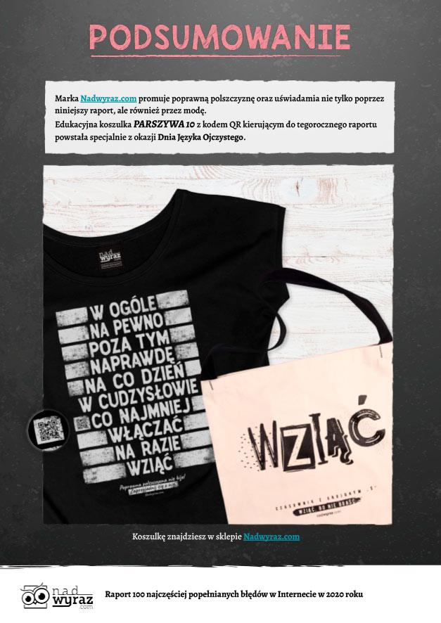 100 najczęściej popełnianych błędów językowych w Internecie w 2020 r. Raport o kondycji polskiej ortografii w Internecie Polszczyzna.pl