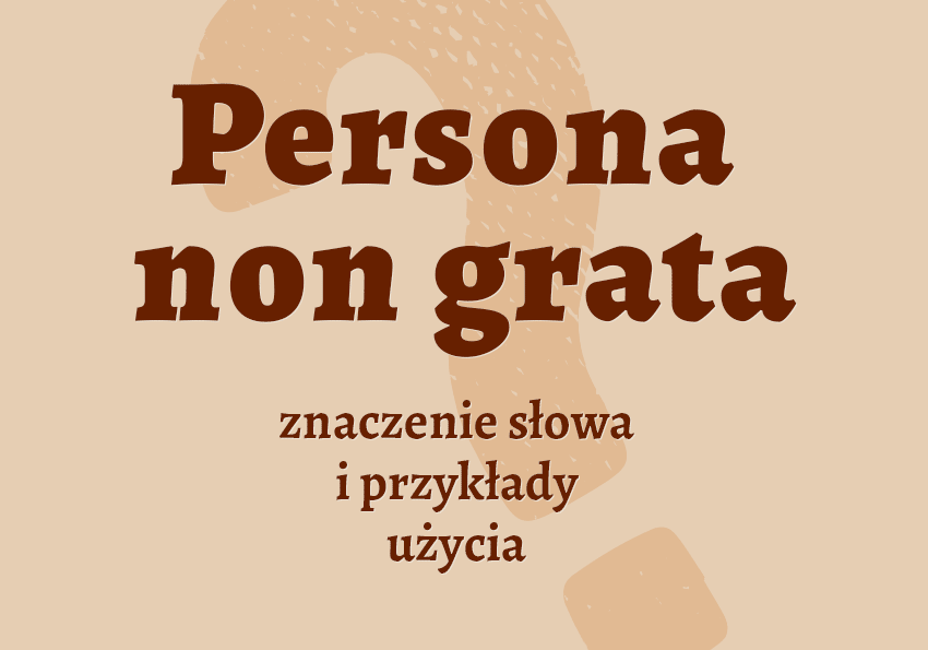 persona non grata kto to jest kim jest definicja znaczenie wyrażenia słowa film Zanussi pojęcie kim jest kto to synonimy inaczej persona non grata pochodzenie odmiana słownik Polszczyzna.pl