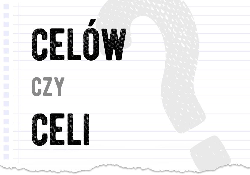 celów czy celi poprawna forma odmiana jak odmienić odmienia się słowo wyraz cel cela celów celi pytanie odpowiedź wyjaśnienie poradnik poradnia językowa Polszczyzna.pl