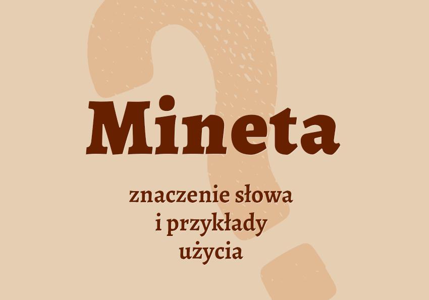 mineta co to jest czym jest znaczenie definicja cunnilingus hasło hasła pojęcie czym jest jak nazwać czynność mineta synonim wyrazy pokrewne przykłady użycia minetka słownik Polszczyzna.pl