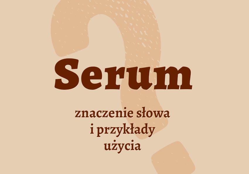 serum co to znaczenie definicja słowa pojęcie jak wyrazu co to jest serum synonimy inaczej sera poradnia słownik Polszczyzna.pl