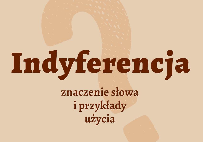 indyferencja co to jest co to znaczy czym jest znaczenie słowa definicja słownictwo hasło do krzyżówki synonim inaczej słownik Polszczyzna.pl