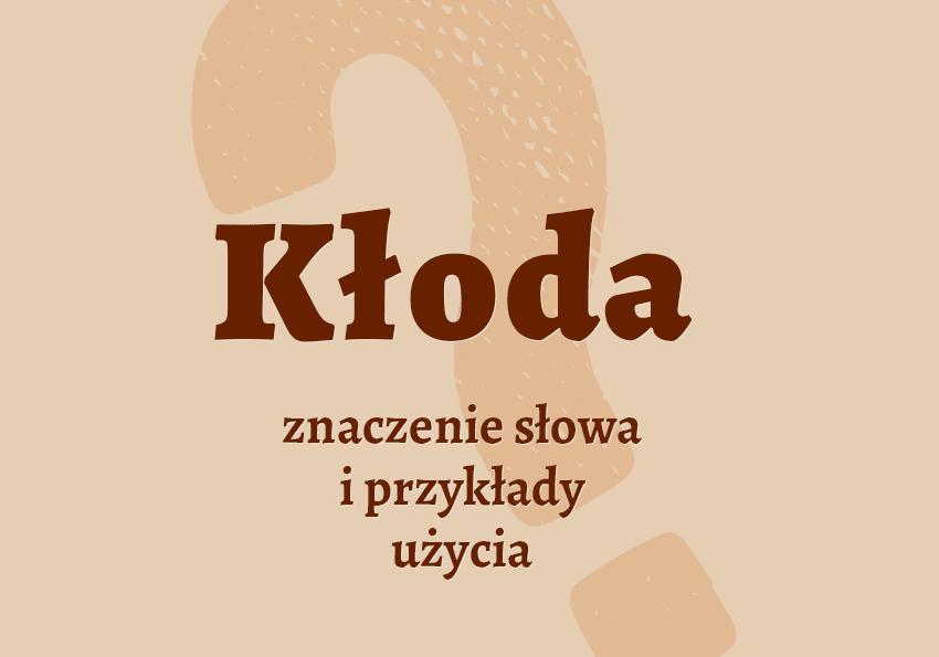 kłoda co to jest czym jest znaczenie słowa definicja słowa hasło do krzyżówki inaczej słownik Polszczyzna.pl