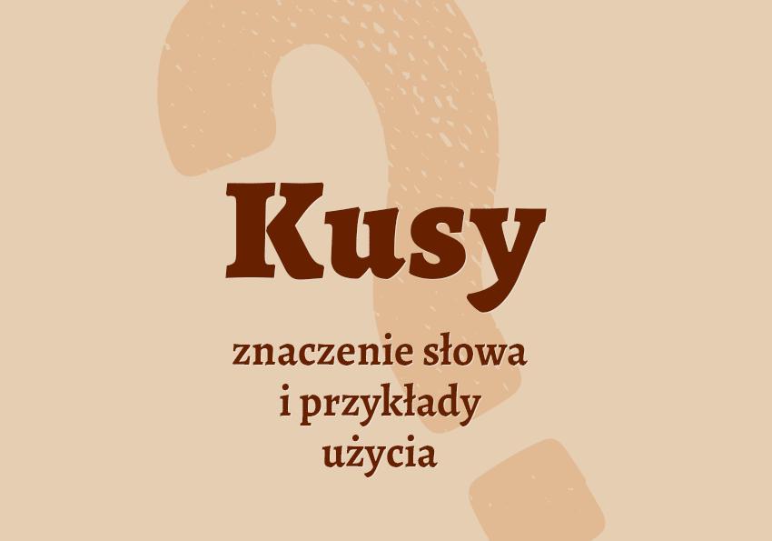 kusy co to jest co to znaczy czym jest definicja znaczenie hasło do krzyżówki synonimy kusego słownik Polszczyzna.pl