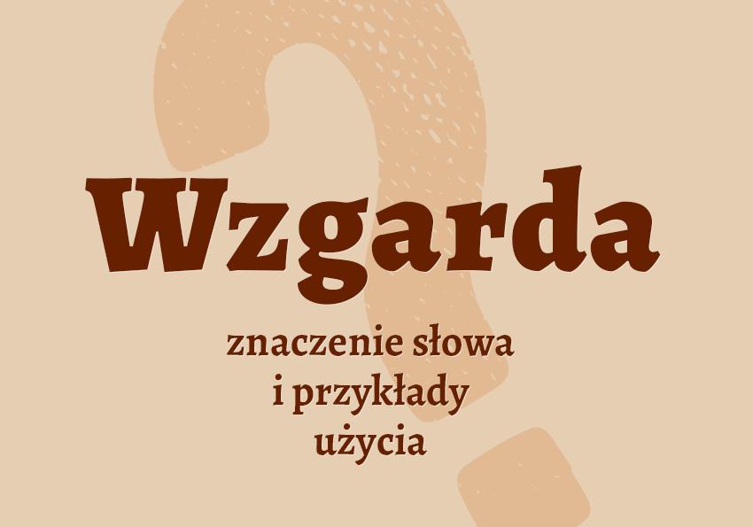 wzgarda co to jest czym jest inaczej czyli co hasło definicja znaczenie słowa wyrazu do krzyżówki określenie przykłady słownik Polszczyzna.pl