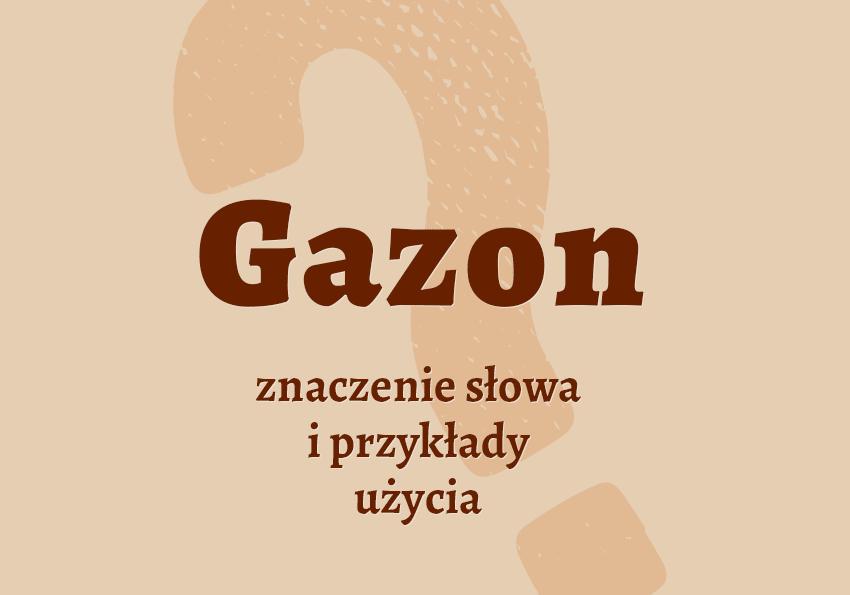 gazon co to jest czym jest znaczenie słowa definicja słowa synonim słownictwo przykłady użycia wyrazy pokrewne hasło do krzyżówki inaczej słownik Polszczyzna.pl