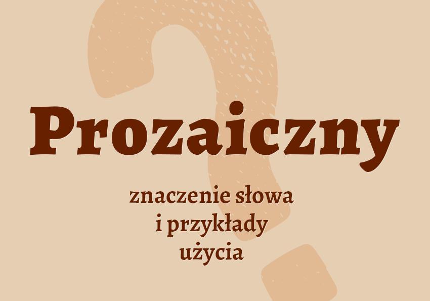 Prozaiczny czyli jaki co to jest czym jest definicja znaczenie hasło do krzyżówki synonimy słownik Polszczyzna.pl