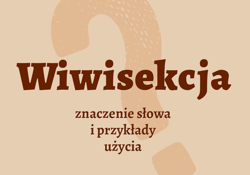 Wiwisekcja co to jest czym jest przykłady użycia definicja znaczenie słowa wyrażenie jaka jest objaśnienie wyjaśnienie hasła pojęcia słownik Polszczyzna.pl