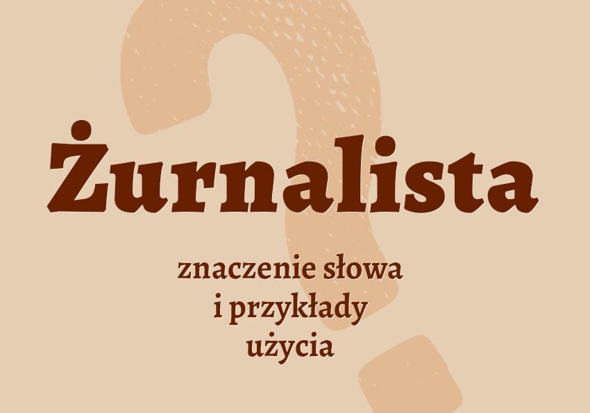 żurnalista kto to jest kim jest co to jest definicja znaczenie słowa przykłady użycia synonimy pytanie poradnik wyjaśnienie hasła pojęcie słownik Polszczyzna.pl