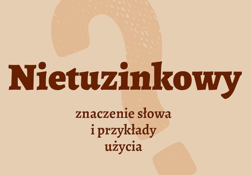 Nietuzinkowy co to jest? znaczy definicja znaczenie pisownia synonim Polszczyzna.pl