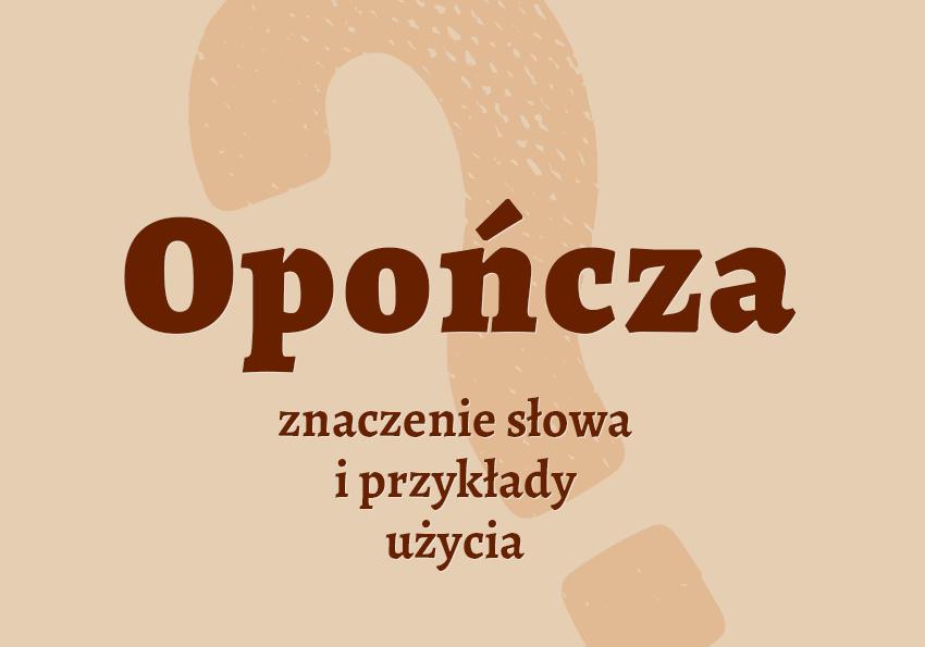 Opończa co to jest? znaczy definicja znaczenie pisownia słownik Polszczyzna.pl