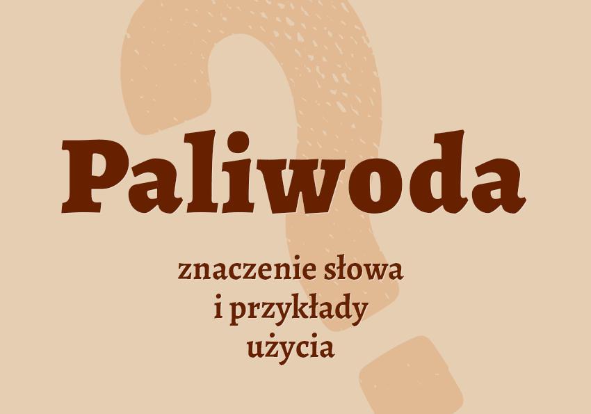 paliwoda co to krzyżówka kto to kim jest słownik Polszczyzna.pl