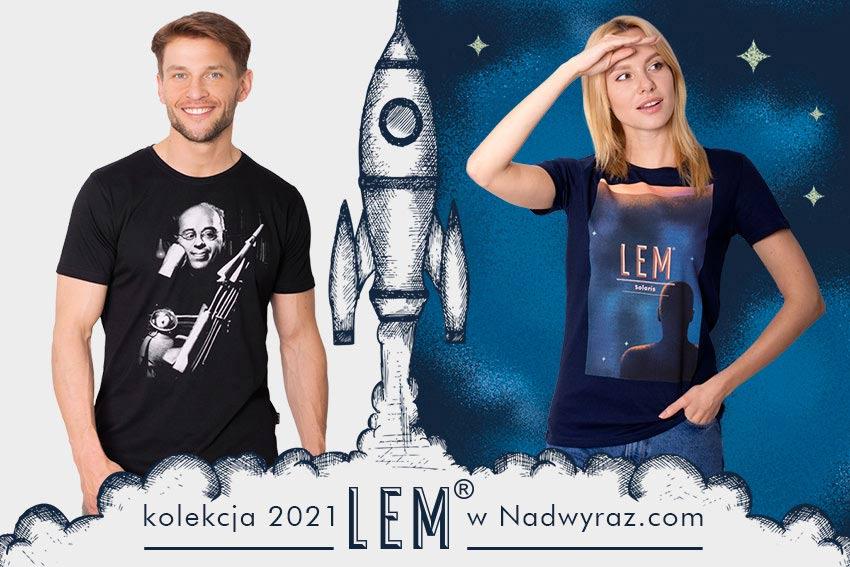 Stanisław Lem kolekcja Nadwyraz.com książki koszulki futurolog Solaris Eden Polszczyzna.pl