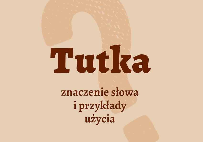 Tutka co to jest co znaczy definicja słownik polskiego Polszczyzna.pl
