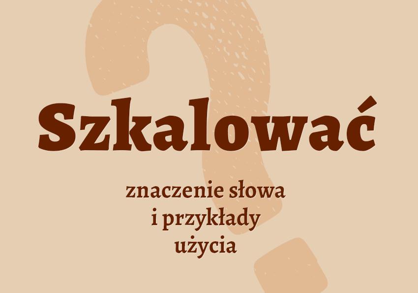 Szkalować - co to znaczy? Definicja i synonimy. Słownik języka polskiego Polszczyzna.pl
