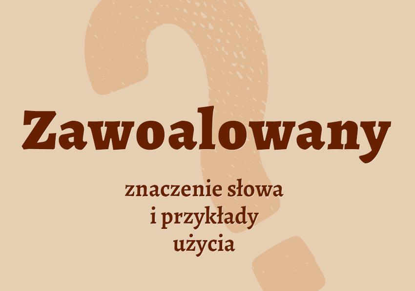 Zawoalowany co znaczy synonimy inaczej definicja znaczenie słownik Polszczyzna.pl