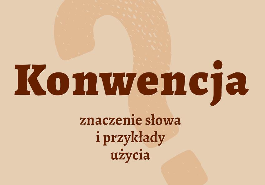 Konwencja co to jest. Definicja konwencji przykłady synonimy inaczej przykłady. Słownik Polszczyzna.pl