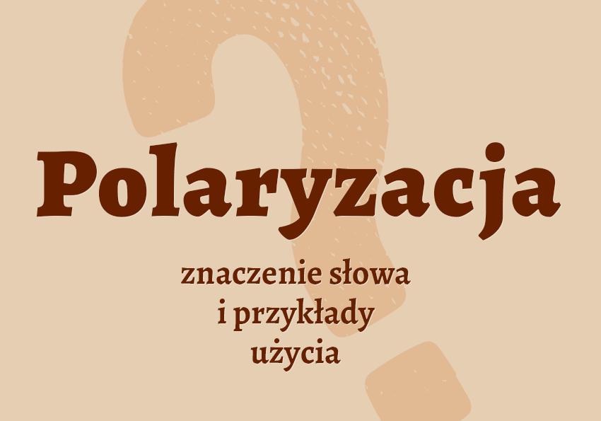 Polaryzacja co to jest? Definicja polaryzacji synonim inaczej znaczenie co znaczy polaryzacja przykłady słownik Polszczyzna.pl