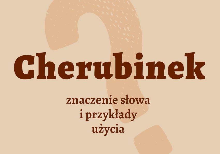 Cherubinek - kto to jest? Definicja, wyjaśnienie, Biblia, sztuka, synonim, słownik Polszczyzna.pl