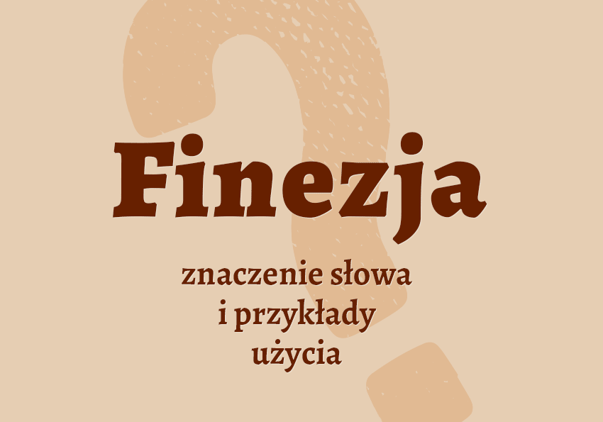Finezja - co to jest? Definicja, znaczenie, synonimy, przykłady. Polszczyzna.pl
