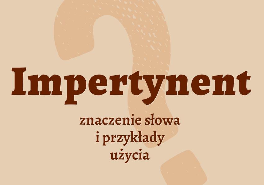 Impertynent - kto to jest? Definicja, synonimy, słownik Polszczyzna.pl