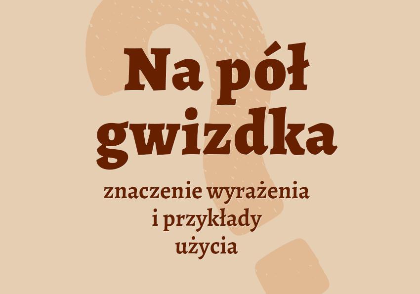 Na pół gwizdka - czyli jak? Wyjaśnienie, znaczeni,e, przykłady. Słownik Polszczyzna.pl