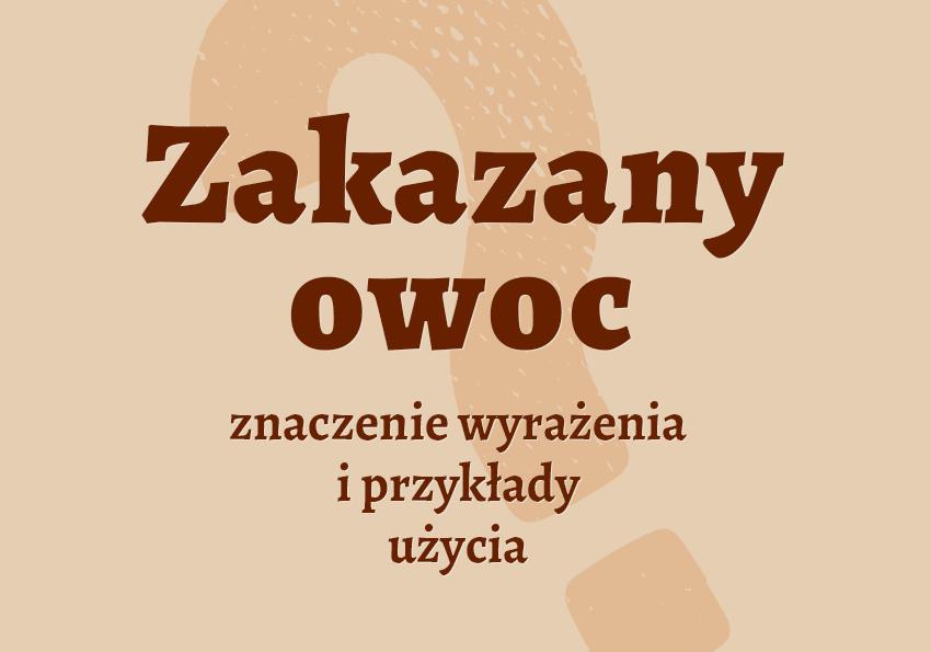 Zakazany owoc, czyli co. Co to znaczy? Znaczenie, definicja, przykłady, biblizmy, Biblia, słownik. Polszczyzna.pl